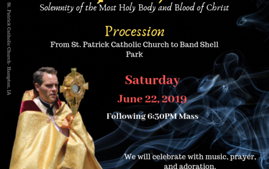 Eucharistic Procession – June 22 & 23