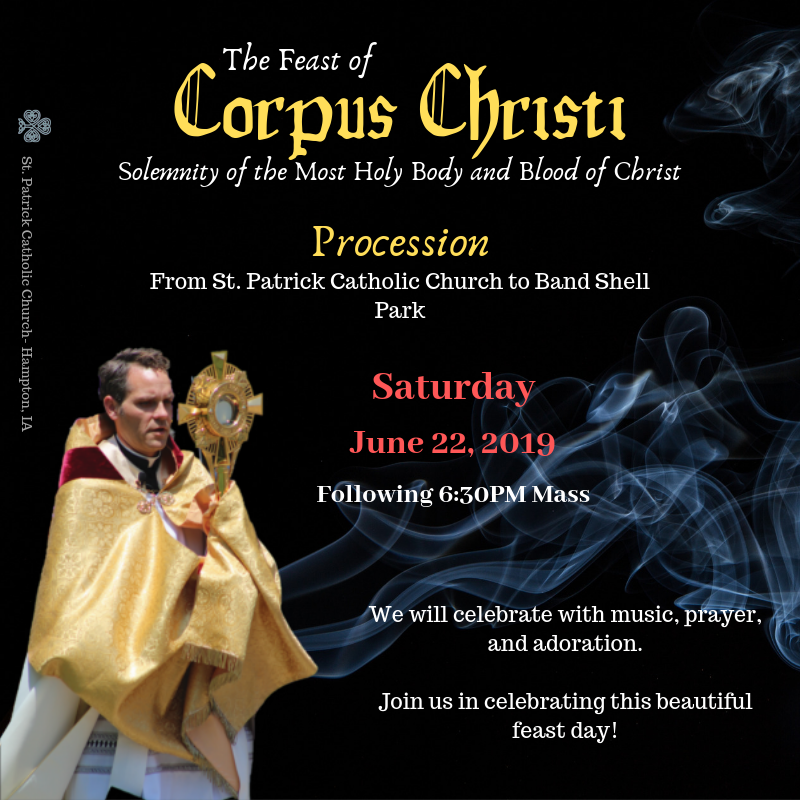 Eucharistic Procession - June 22 & 23