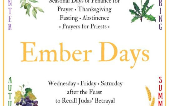 Ember Days Reflections