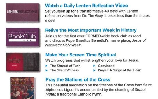 Journey through Lent with FORMED