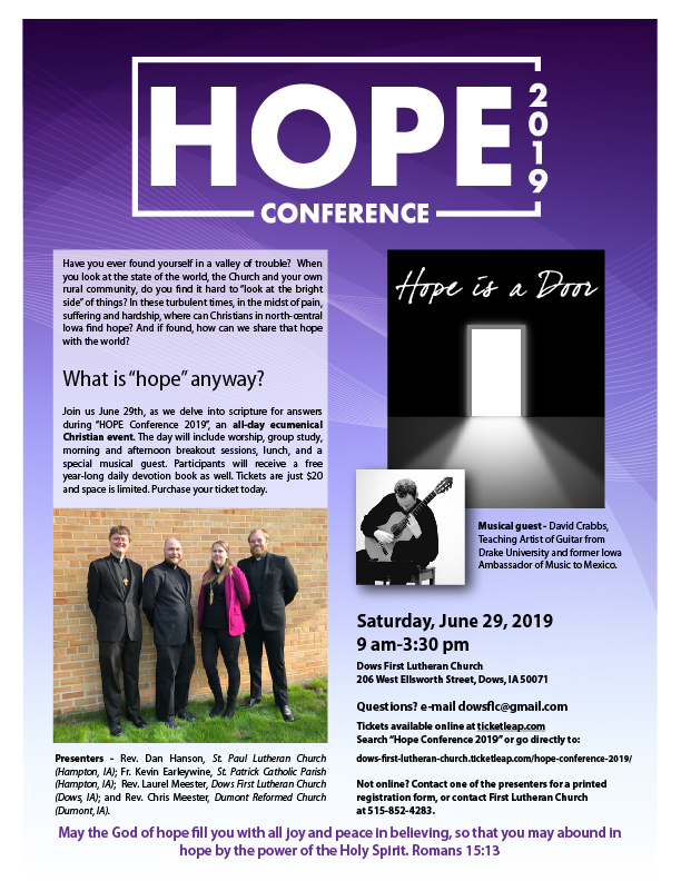 Hope Conference - June 29