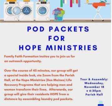 Pod Packets for Hope Ministries
