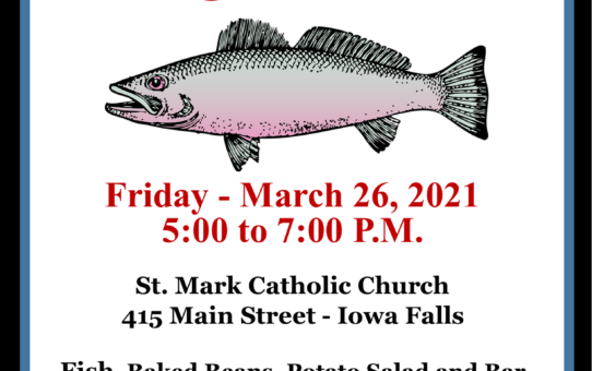 St. Mark Fish Fry – March 26