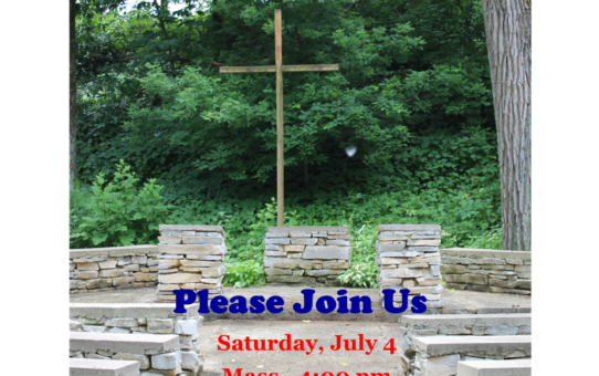 Outdoor Mass July 4 at 4:00 PM